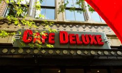Cafe Deluxe near Topaz House Apartments in Downtown Bethesda, MD