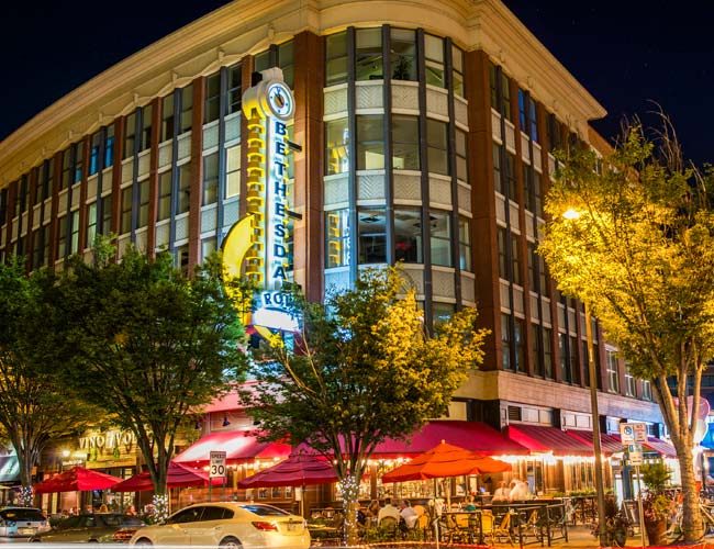 Downtown Bethesda, MD near Topaz House Apartments