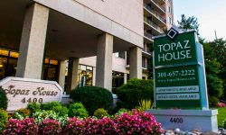 Topaz House Apartments Exterior Sign 4400 East West Highway Apartments Available Office Suite Available