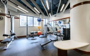 Topaz House fitness center